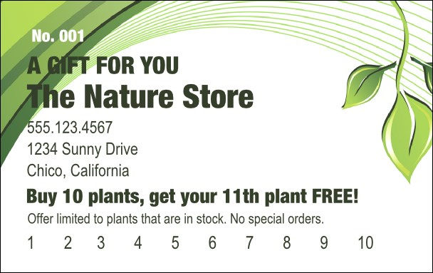 Green Leaf Gift Card Product Front