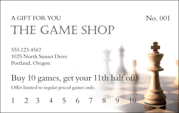 Game Shop Gift Card