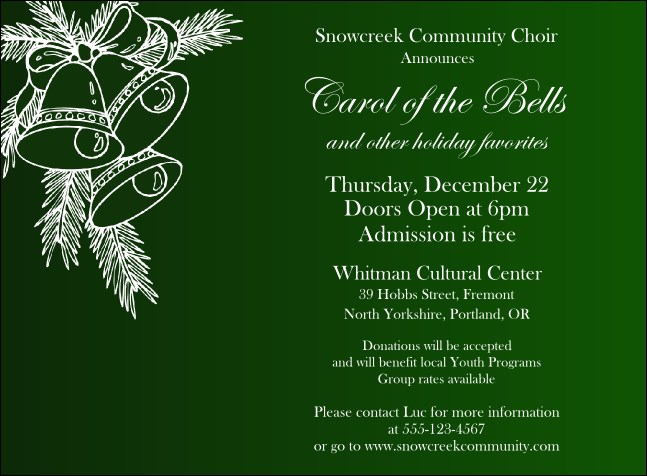 Christmas Bells Invitation 001