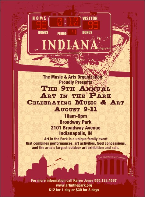 Indiana Invitation Product Front