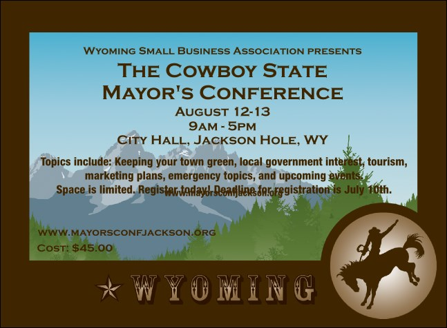 Wyoming Invitation