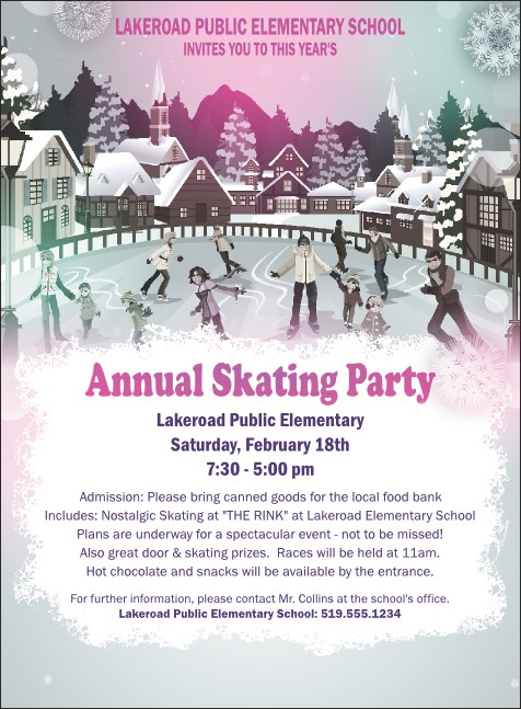 Skating Party Invitation Product Front