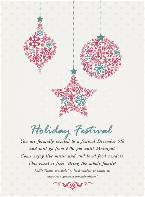Snowflake Ornament Invitation