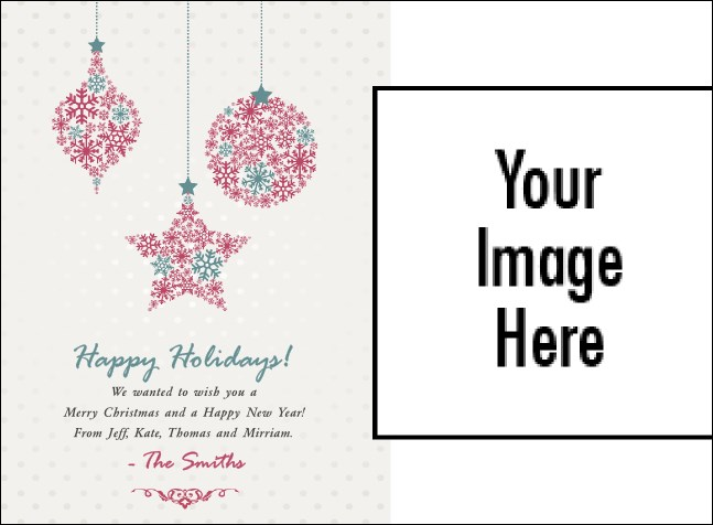 Snowflake Ornament Picture Invitation