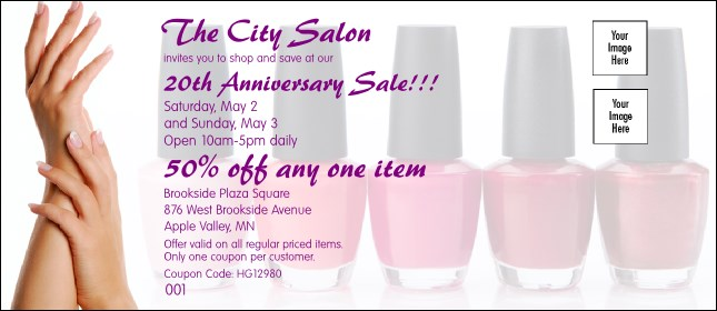 Nail salon coupon for A plus nail salon