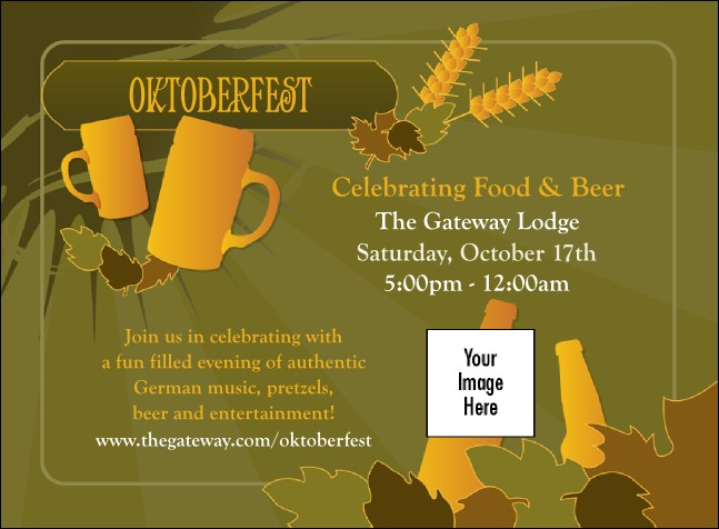 Oktoberfest Green Invitation