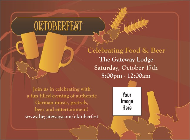 Oktoberfest Red Invitation