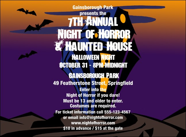 Haunted House Invitation 002