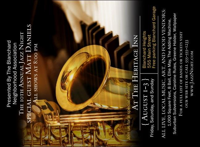 Jazz invitation stopboris Choice Image