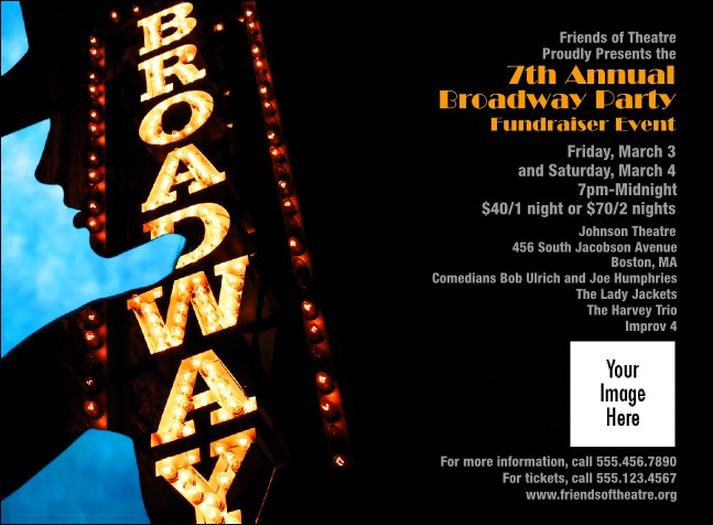 Broadway Invitation Product Front