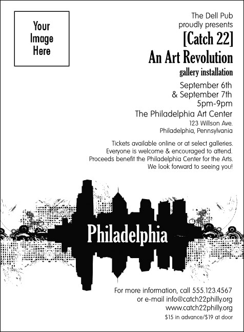 Philadelphia BW Invitation