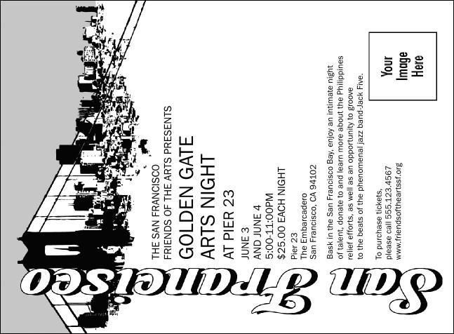San Francisco BW Invitation Product Front