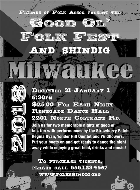 Milwaukee Invitation (Black and White) Product Front
