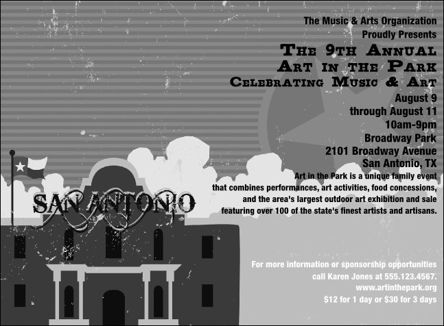 San Antonio Invitation (Black and white)