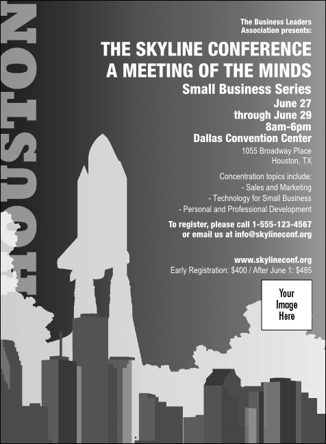 Houston Invitation (Black and white)