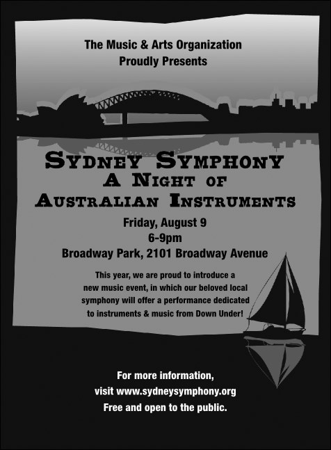 Sydney Invitation (Black & white)