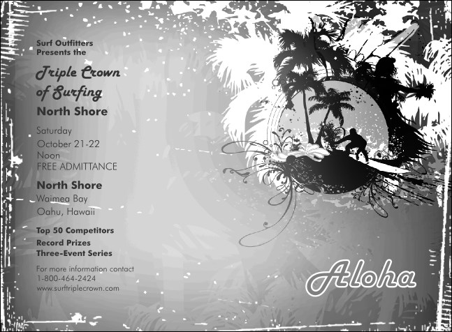 Aloha Invitation (black and white)