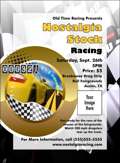 Stock Car Racing Invitation