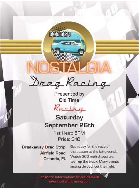 Drag Racing Invitation