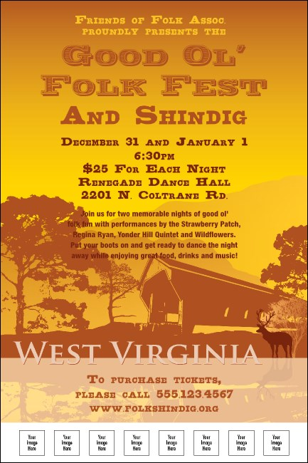 West Virginia Poster Product Front