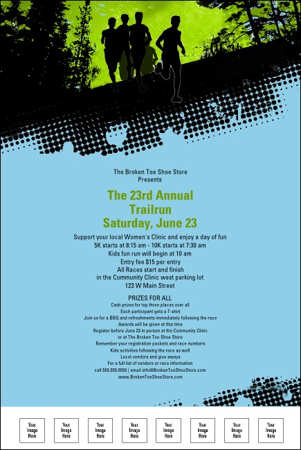 Trail Running Race Poster