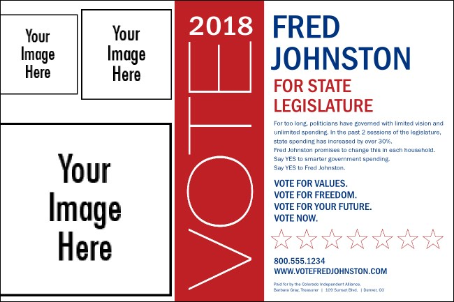 Vote for me poster template