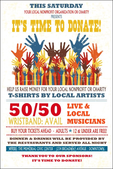 Fundraising Hands Poster