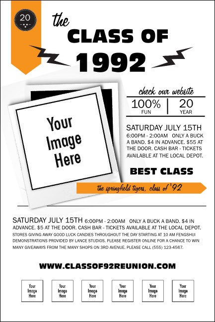 Class Reunion Mascot Orange Poster