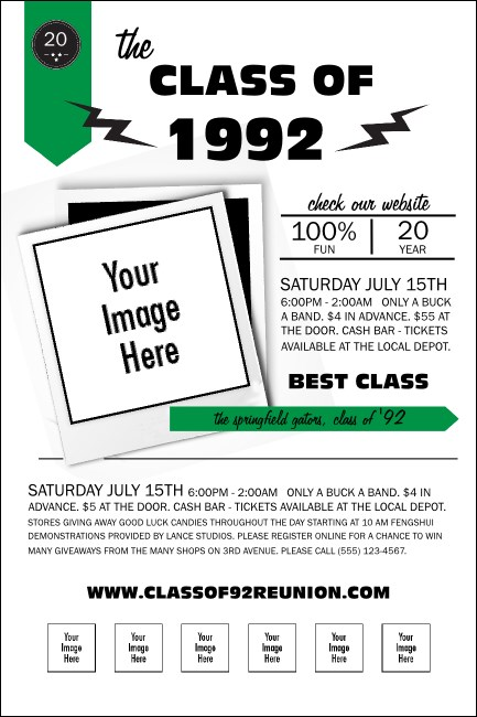 Class Reunion Mascot Green Poster Product Front