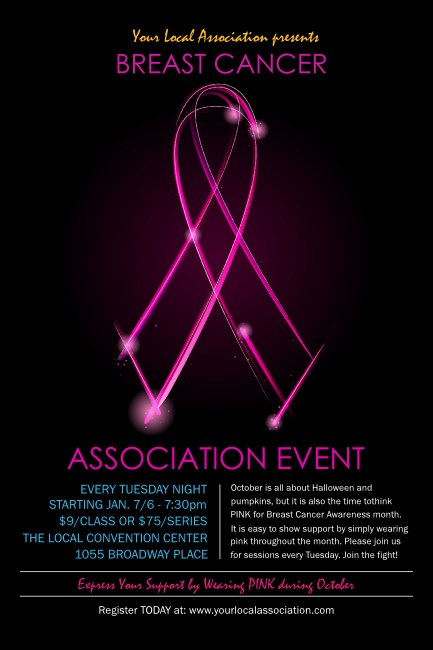 Breast Cancer Ribbon Sparkle Poster Product Front