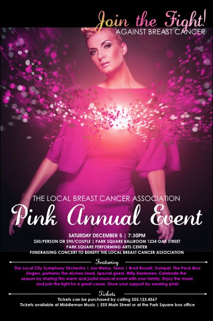 Breast Cancer Bokeh Poster