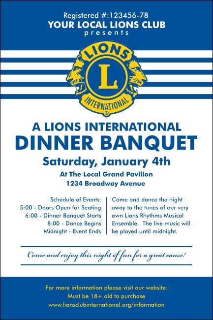 Lions Club International Stripes Poster