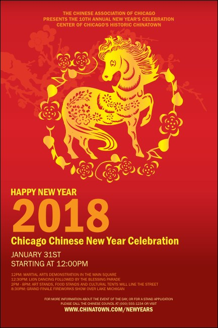 Chinese New Year Horse Poster