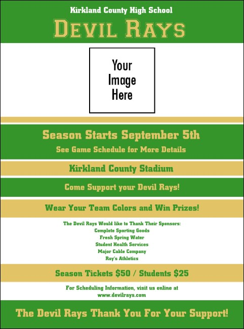 Sports Flyer 001 in Green and Gold
