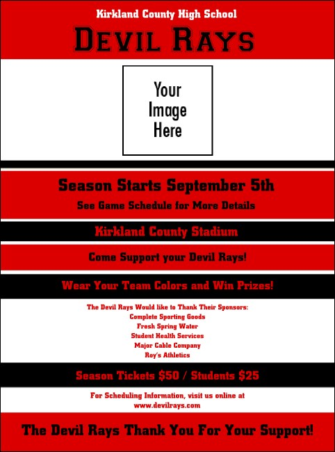 Sports Flyer 001 in Red and Black