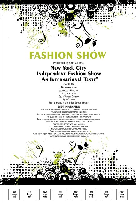 Fashion show poster for Fashion show ticket template