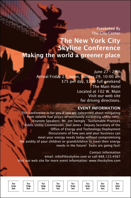 New York Red and Orange Poster 001