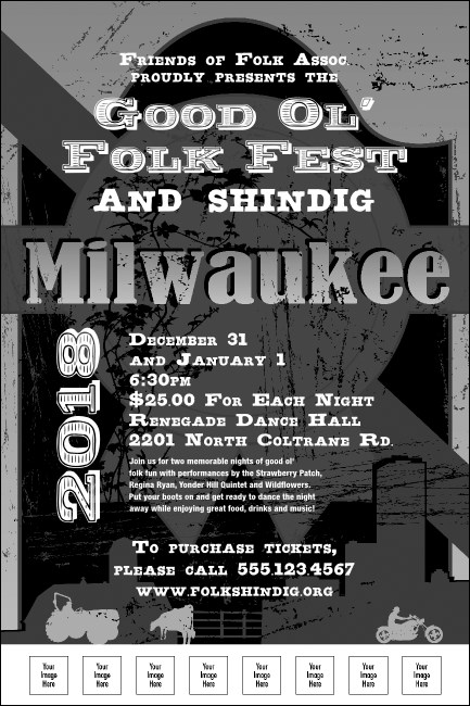 Milwaukee Poster (black and white)