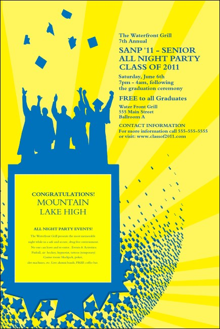 Bright Ideas Graduation Poster Yellow Product Front