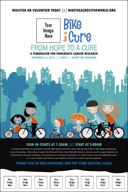 Bike for a Cause Logo Poster Product Front