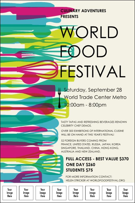 World Food Festival Logo Poster Product Front