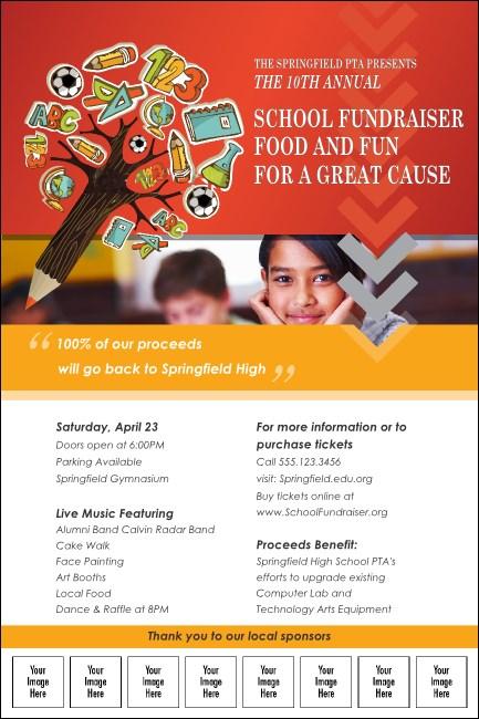 fundraiser for education logo poster