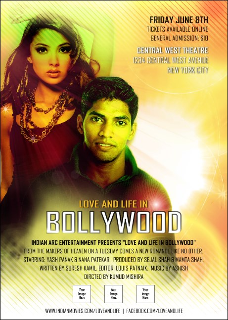 Bollywood Postcard Product Front