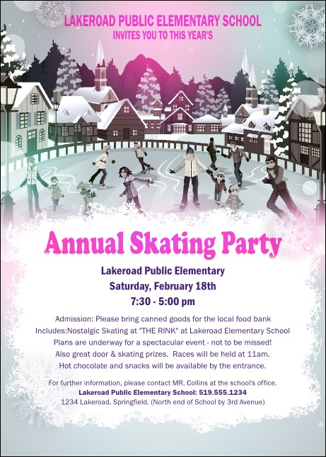 Skating Party Postcard