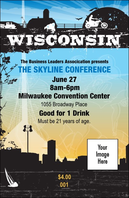 Wisconsin Drink Ticket Product Front