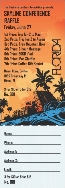 Florida Raffle Ticket