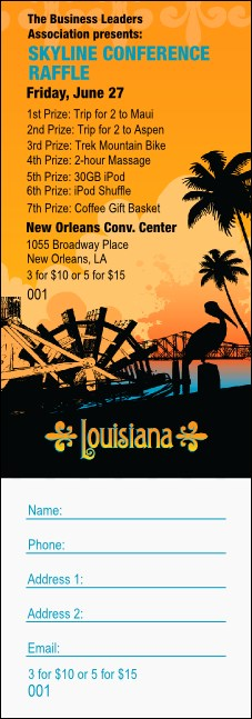 Louisiana Raffle Ticket