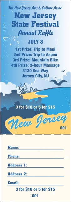 New Jersey Raffle Ticket Product Front