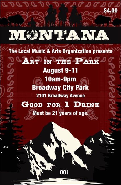 Montana Drink Ticket
