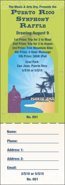 Puerto Rico Raffle Ticket